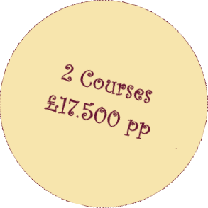 two courses for £14.50