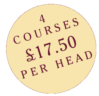 four courses for £17.50